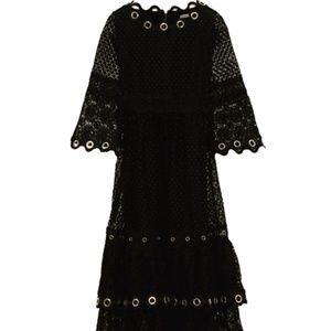Maje Roso Tiered eyelet-embellished lace dress
